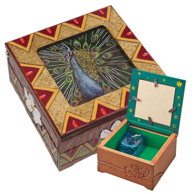 【木彫キット】【オルゴールボックス】グラスアートボックス【スクラッチアート】 サムネイル