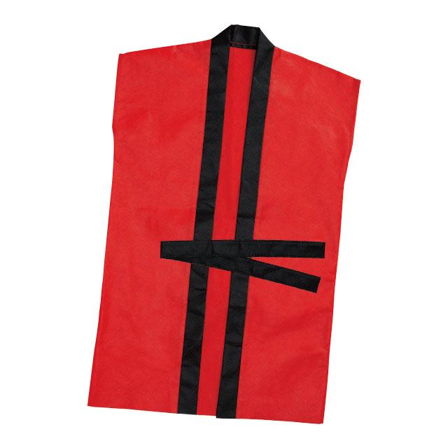 袖なしロングはっぴ M 赤 サムネイル