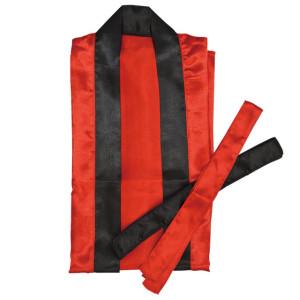 サテン袖なしはっぴロンM赤