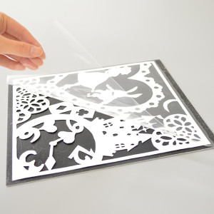 切り絵アート台紙 作品例