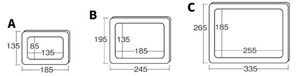 ヘラ押し銅板レリーフセット(額付)サイズ