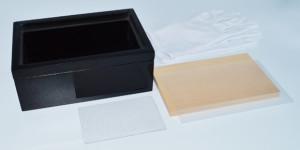 オルゴール箱短時間工作キット プレミアム輝(かがやき)ボックス (塗装済) セット内容