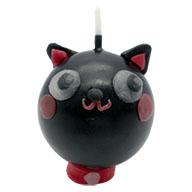 手作りキャンドル 黒猫