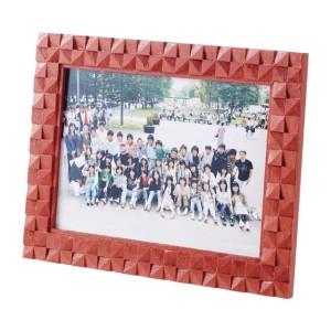 木彫フォトフレーム(組立済) はがき判・作品例