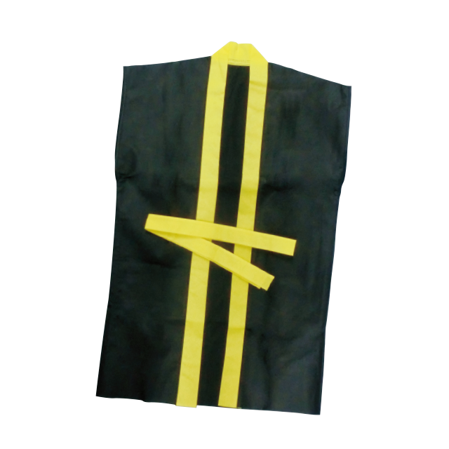 袖なしロングはっぴ M 黒・黄 サムネイル