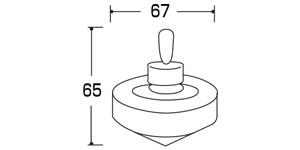 09190糸ひきごま(ひも付き) サイズ・大きさ