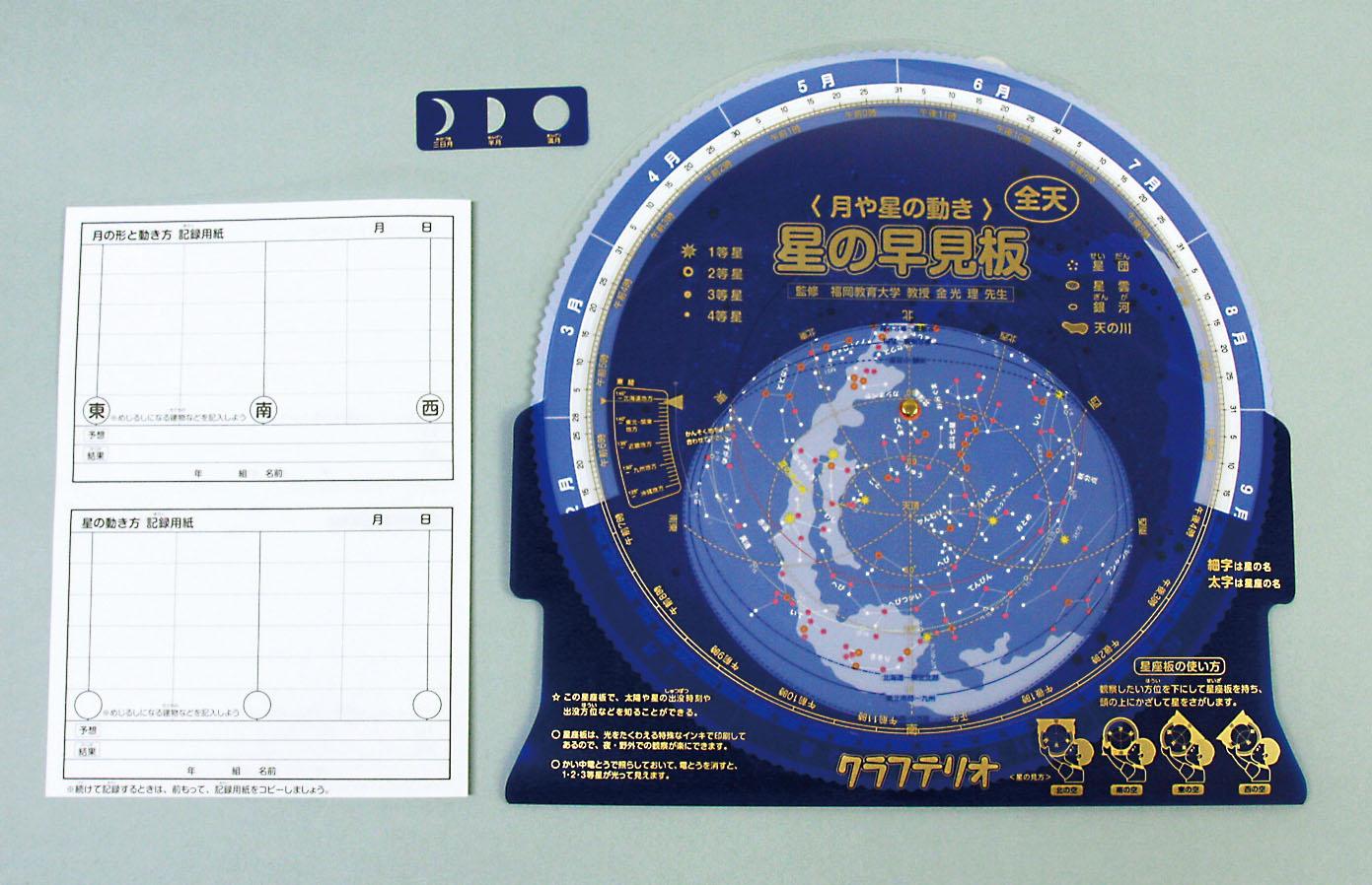 星や月の早見板_セット画像