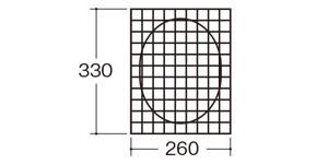 31191ジャンボ面芯|粘土用お面づくり|サイズ・大きさ