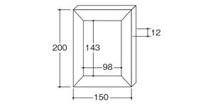 31411粘土フォトフレーム|サイズ・大きさ