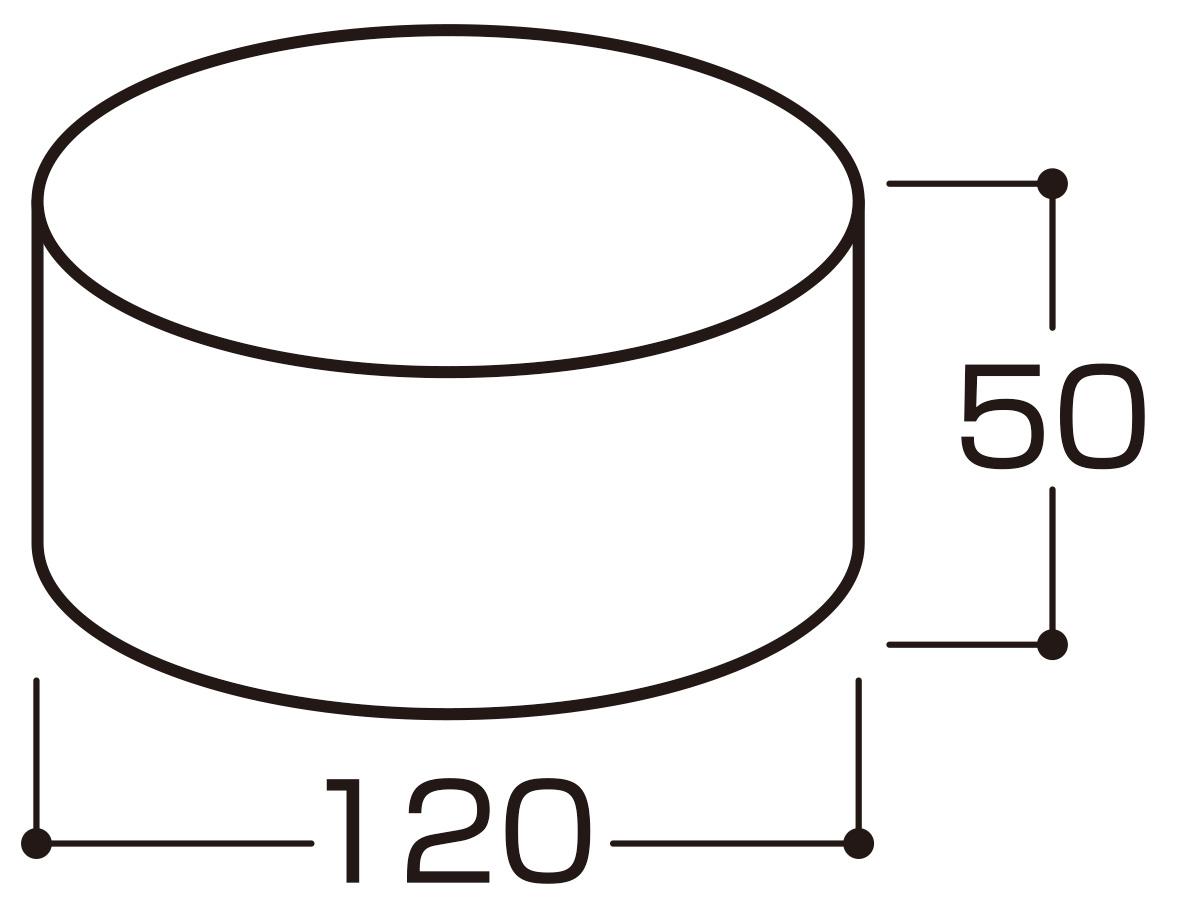 ケーキの芯材_寸法図
