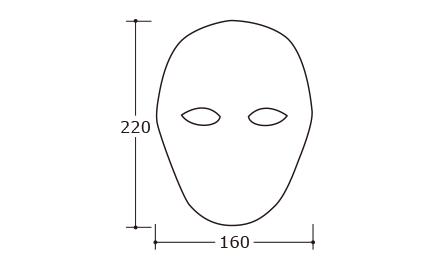 デザインマスク フル|サイズ・大きさ