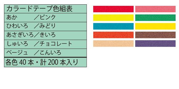 カラードテープ・カラー表
