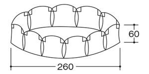 ゾートロープ(アニメーションの原型)の大きさ