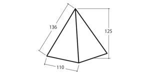 プッシュステンドピラミッド サイズ、大きさ