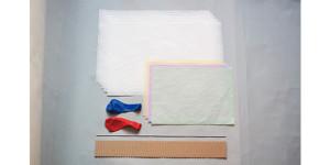紙工作キット、和紙で作る風船ランプ セット内容