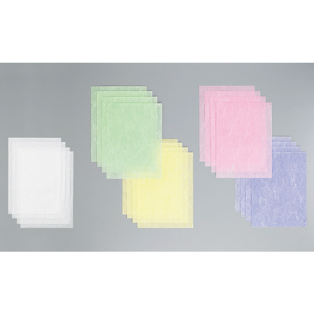 雲龍紙、白・赤・黄・紫・緑