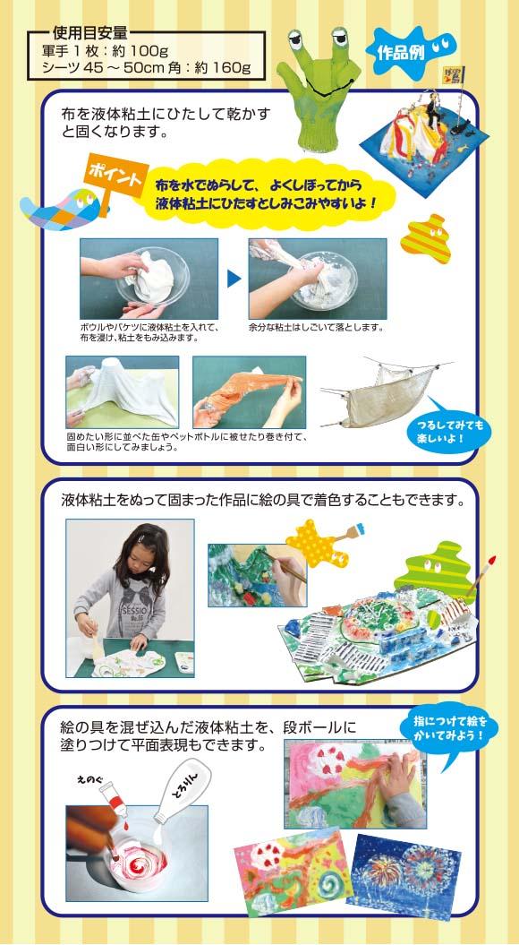 液体粘土とろりん・使用例