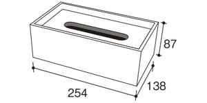 ドロップティッシュBOX・サイズ