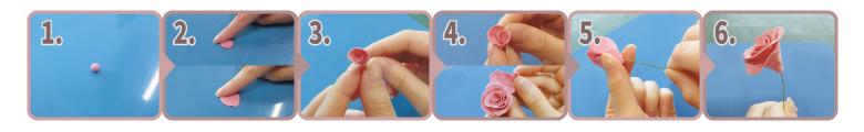 Kクレイ|花の作り方|手順