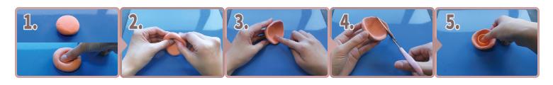 Kクレイテラコッタ|鉢(ポット)の作り方