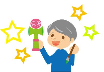 けん玉・イラスト