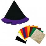 紫のとんがり帽子 フェルトシール付