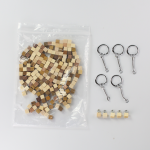 寄木アートでキーホルダー作り(5人分セット)|セット内容