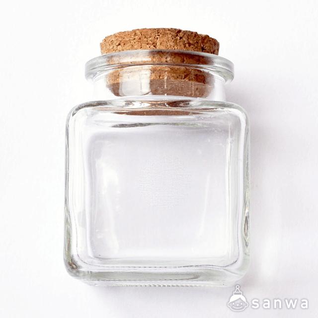 キャンドルビーズセット(8人分) B(四角型)|ガラスとコルク