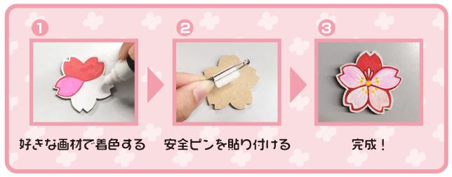 桜木のバッジ・作り方