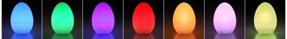 エッグライト LED 7色|ライト点灯時
