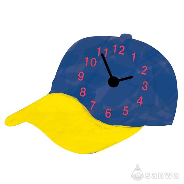 木のおえかき時計セット ぼうし|作品例その1