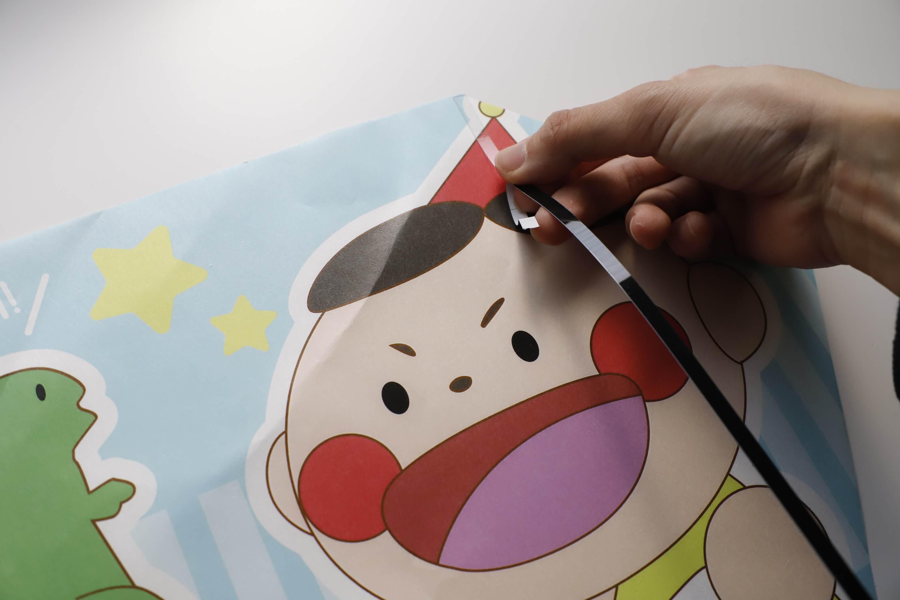 凧OEMの作り方はとても簡単!! 画像