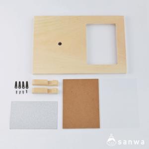 時計付写真立て 木彫+ムーブメントセット|セット内容