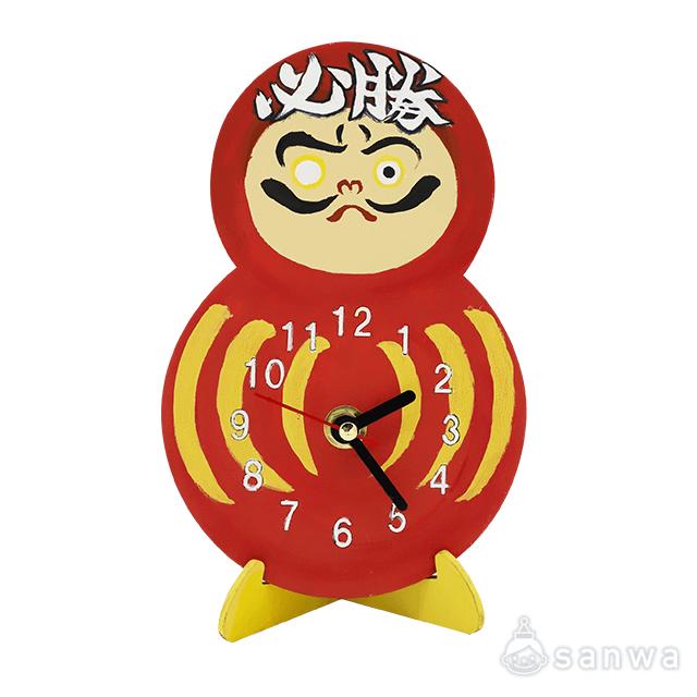 【塗るだけ】木のおえかき時計セット だるまがた【木製時計】